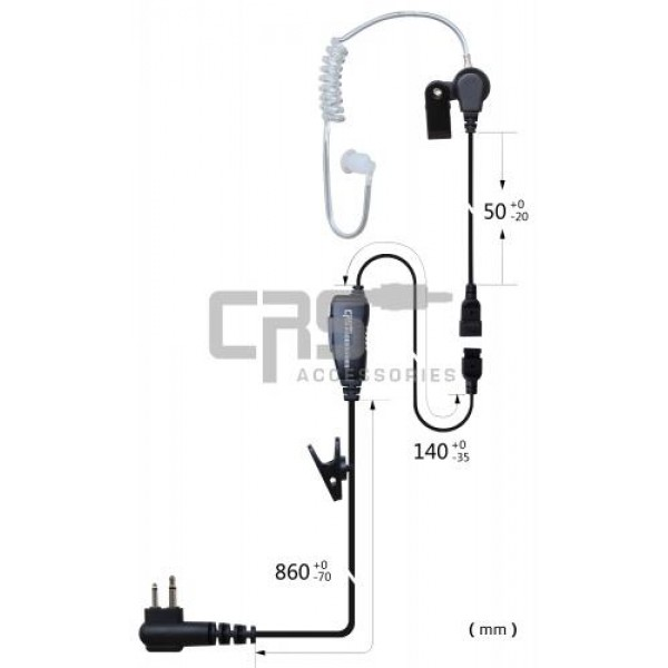 AIRTUBE EARPIECE 1 WIRE - CRS-1WLAT