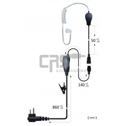 AIRTUBE EARPIECE MOULDED 1 WIRE - CRS-1WLATM
