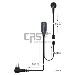 EARBUD EARPIECE 2 WIRE - CRS-2WEB