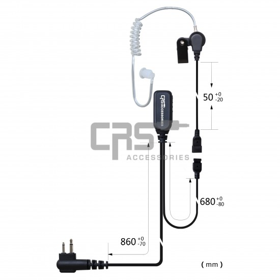 AIRTUBE EARPIECE 2 WIRE - CRS-2WLAT
